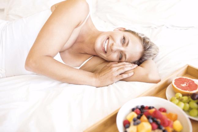 Woman skin nice food healthy diet clean