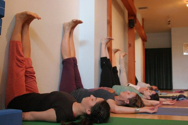 Yoga Legs up the Wall