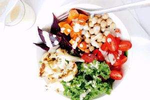 Rainbow Buddha Bowl with Tangy Tahini Dressing