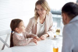 Children kid parenting happy dinner meals