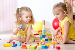 children playing together at childcare