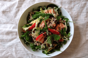 Meg's Smoked Trout, Quinoa & Strawberry Salad