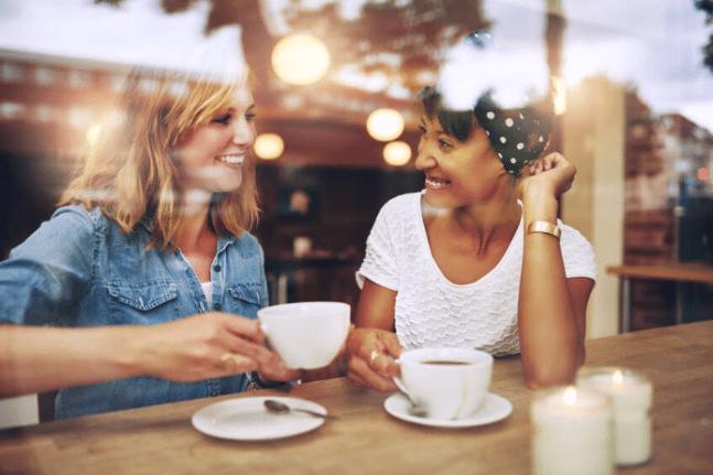 conversation between two women