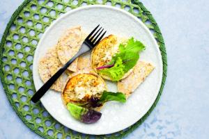 Baked Ricotta & Salad Greens