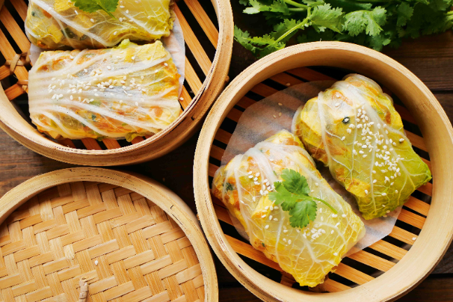 Steamed Tofu And Cabbage Rolls Recipe Wellbeing Com Au