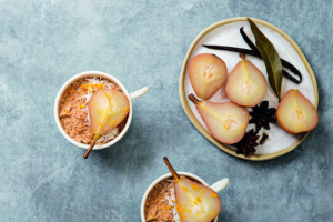 Pear & Hazelnut Oatmeal Cups  Serves: 6  =R2=