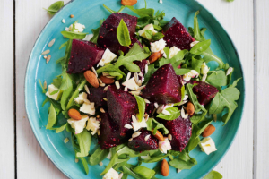 Warm Steamed Beetroot and Goat's Cheese Salad Recipe