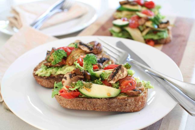 Mushroom, Tomato & Zucchini Bruschetta Recipe
