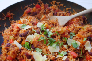 One-Pot Mexican Kidney Bean and Rice Recipe