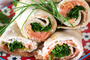 Smoked Salmon and Buckwheat Wraps Recipe