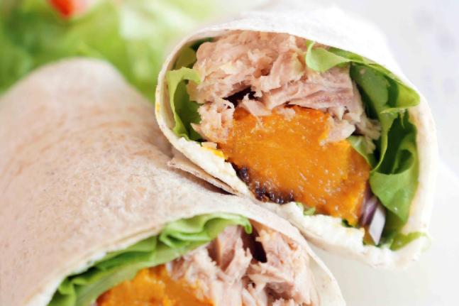 Roast Pumpkin and Tuna Wrap Recipe