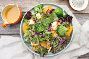 Haloumi and Broccoli Quinoa Salad
