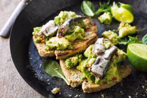Smashed Sardines on Toast Recipe