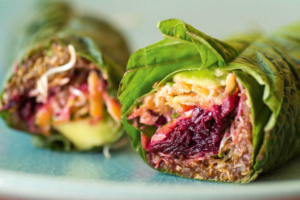 Quinoa and Vegetable Spinach Leaf Wrap Recipe