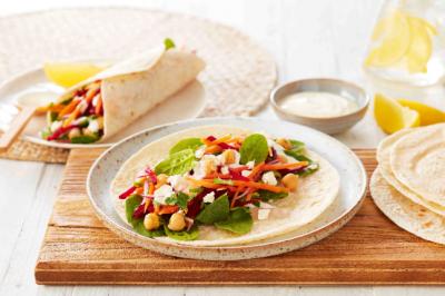 Vegetarian Chickpea & Salad Low Carb Wrap