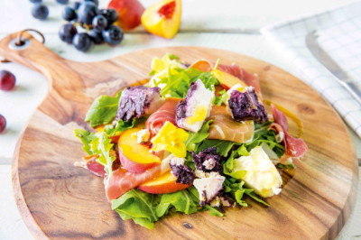 Peach Prosciutto & Drunken Buffalo Salad
