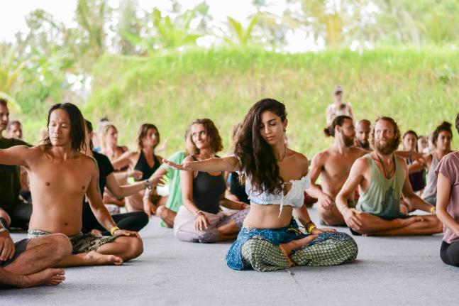 Yoga festival move love