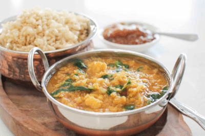 spinach dhal vegan healthy food