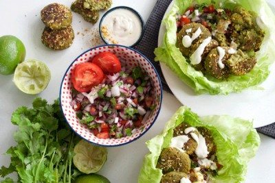 Falafel Wraps with Spicy Dukkah