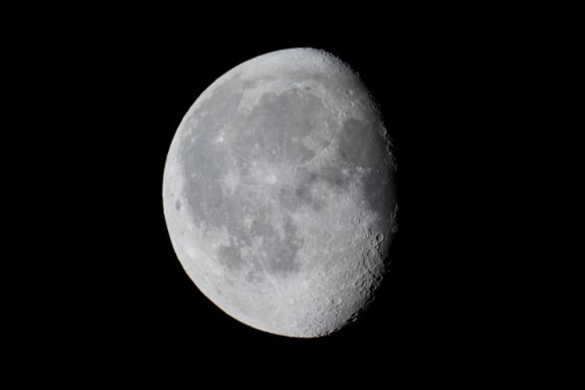 moon night light sky