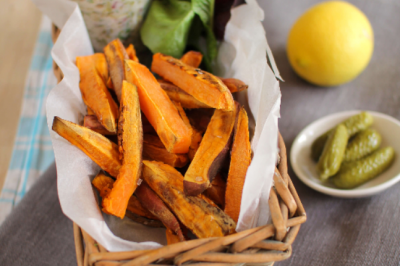 Sweet Potato Chips with Vegan Tartare Sauce Recipe