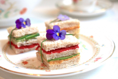 Rainbow Triple Decker Sandwiches for High Tea Recipe