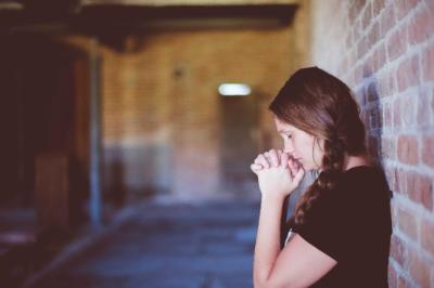 woman yoga pray prayer