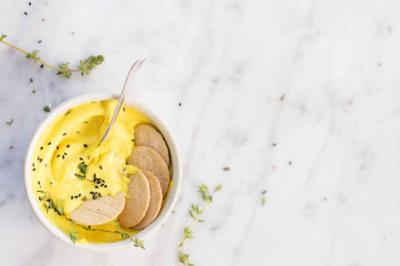 Turmeric Cashew Cheese recipe sponsor recipes ceres