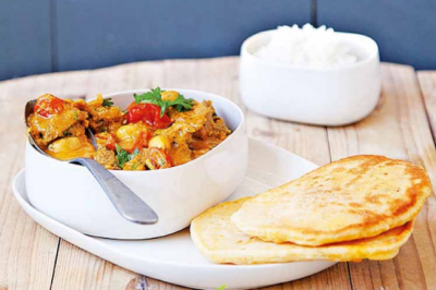 Credit: Sponsor Recipes Magimix Lamb curry with naan recipe