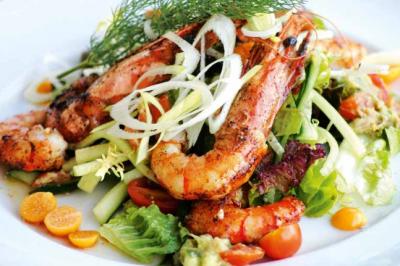 Warm Prawn Salad sponsor recipe Pearl River Bridge