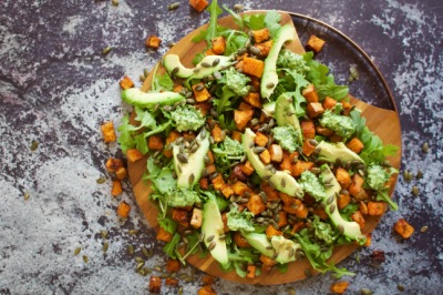 Roasted Pumpkin and Pesto Rocket Salad Recipe