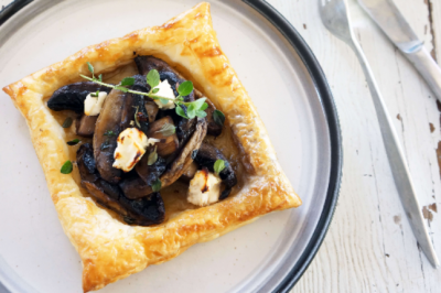 Mushroom, Thyme and Feta Tarts Recipe