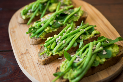 Rocket is a leafy green that has a punch of flavour. Remember, a little goes a long way.