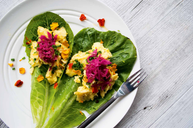 Healthy, delicious and gluten-free Egg Lettuce Cups Recipe