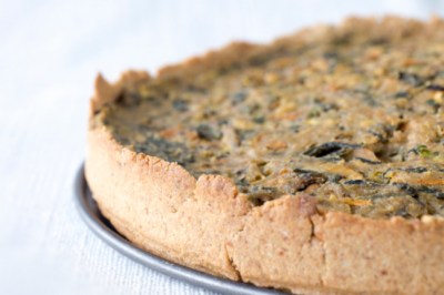 Vegetable Flan with Vegan Shortcrust Pastry Recipe