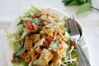 Healthy, gluten-free Vietnamese-Inspired Jackfruit Salad Recipe