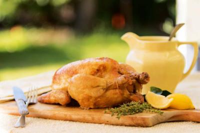 The Bare Bird Lemon Roast Chicken