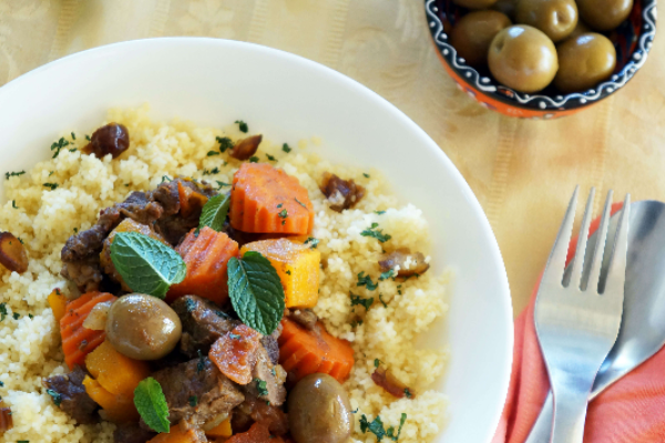 Moroccan Lamb Stew with Fruity Couscous Recipe