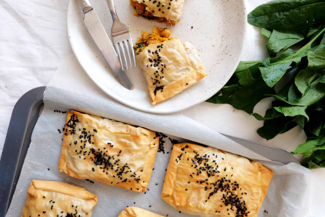 Gluten-free Healthy Pumpkin and Chickpea Pasties Recipe