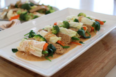 Vegan Gluten-free Gado Gado Rolls Recipe for the whole family
