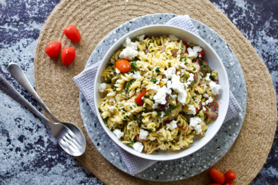 Chickpea Pasta with Kale and Goat's Cheese Recipe