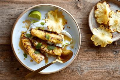 lee holmes Vegan and Gluten-free Pan-Fried Pineapple Dessert Recipe