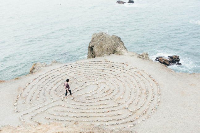 The labyrinth is a sacred place to quiet your mind and open your heart