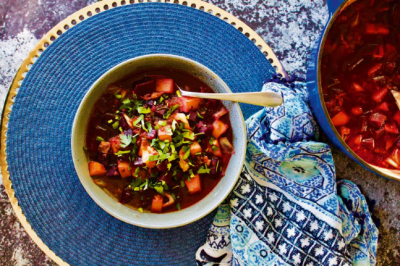 Healthy Vegan and Gluten-Free Beetroot, Potato and Lentil Soup Recipe