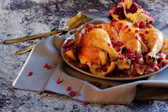 Moroccan Chicken with Olives, Lemon and Pomegranate Recipe