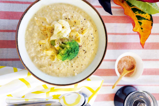 Gluten-free Healthy Broccoli and Cauliflower Soup Recipe