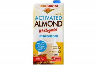 pure harvest unsweetened almond milk
