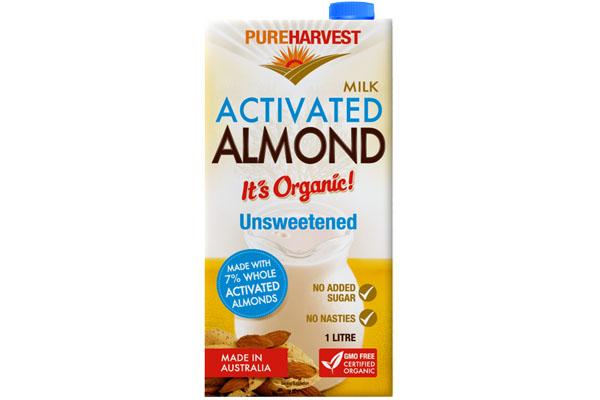 pure harvest unsweetened almond milk