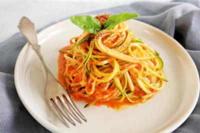 Healthy Roast Capsicum Zucchini Noodles Recipe