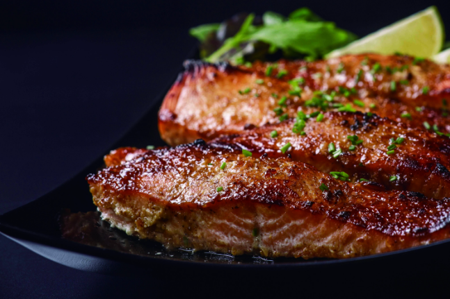 Caramelised Salmon Fillet with Soy Sauce